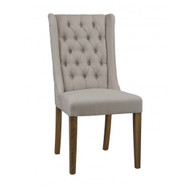 Adison Upholstered Dining Chair - Distressed Oak Legs