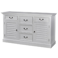 Shutter Sideboard w/ 5 Drawers - Size: 90H x 160W x 45D (cm)