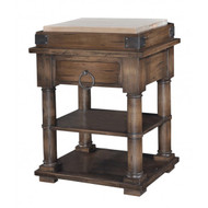 Cortland Kitchen Island on Coasters - Size: 90H x 71W x 61D (cm)