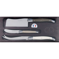 Laguiole Jean Dubost 3 Piece Cheese Cleaver Set - St Louis