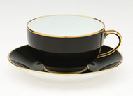 Limoges Legle Breakfast Cup & Saucer - Black