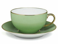 Limoges Legle Breakfast Cup & Saucer - Pastel Green