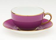 Limoges Legle Breakfast Cup & Saucer - Violet