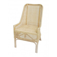 Albany Rattan Dining Chair - Whitewash