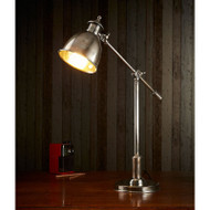 Vermont Bell Adjustable Desk Lamp - Antique Silver