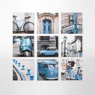 Canvas Print: City Tour Blue