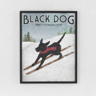 Framed Print: Black Dog Ski