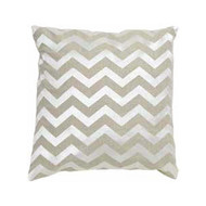 Imogen Chevron Linen Cushion Small