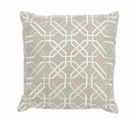 Imogen Hexagon Stitch Linen Cushion Large