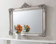 "Abbey Over Mantel Mirror Silver 43.5x37"" Gallery Direct"