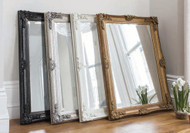 "Abbey Rectangle Mirror Black 43x31"""" Gallery Direct"""""