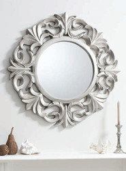 "Ashton Mirror Pewter 40"""" Gallery Direct"""""