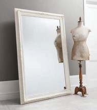 "Buckingham Mirror Vintage White 69x45"""" Gallery Direct"""""