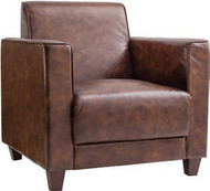 "Granada Club Chair Leather 32x32x33.5"" Gallery Direct"