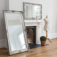 "Harrow Leaner Mirror Silver 67.5x33.5"""" Gallery Direct"""""