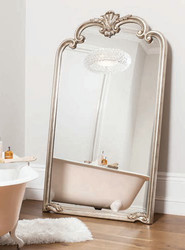"Palazzo Leaner Mirror Silver 72.5x41"""" Gallery Direct"""""