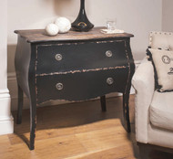 Tremoy Bombe Chest Antique Black 86x85x45 Gallery Direct