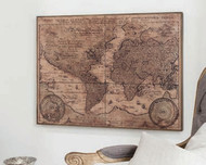 """Vintage World Map 35x26"""" Gallery Direct"""