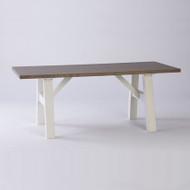 Geneva Dining Table 200cm - White + French Oak Top