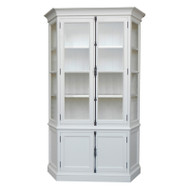 Bella House Geneva Display Cabinet - White