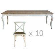 Antoinette Dining Package 240cm (10 Seat)