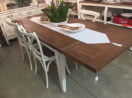 Eton extending Dining table - Architectural White Heavy Distressed /VDW