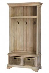Homestead Hallstand w/Bench - Size: 204H x 107W x 43D (cm)