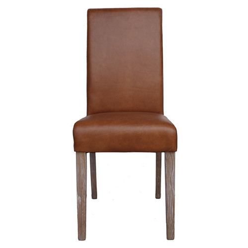 Hudson Leather Dining Chair - Caramel