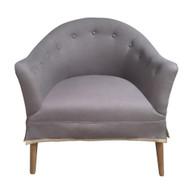 Claudette Tub Chair - Grey Linen