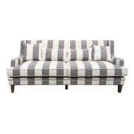 Rohan 3 Seat Sofa - Grey/Cream Stripe