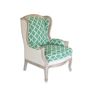 Quatrefoil Accent Chair - Emerald