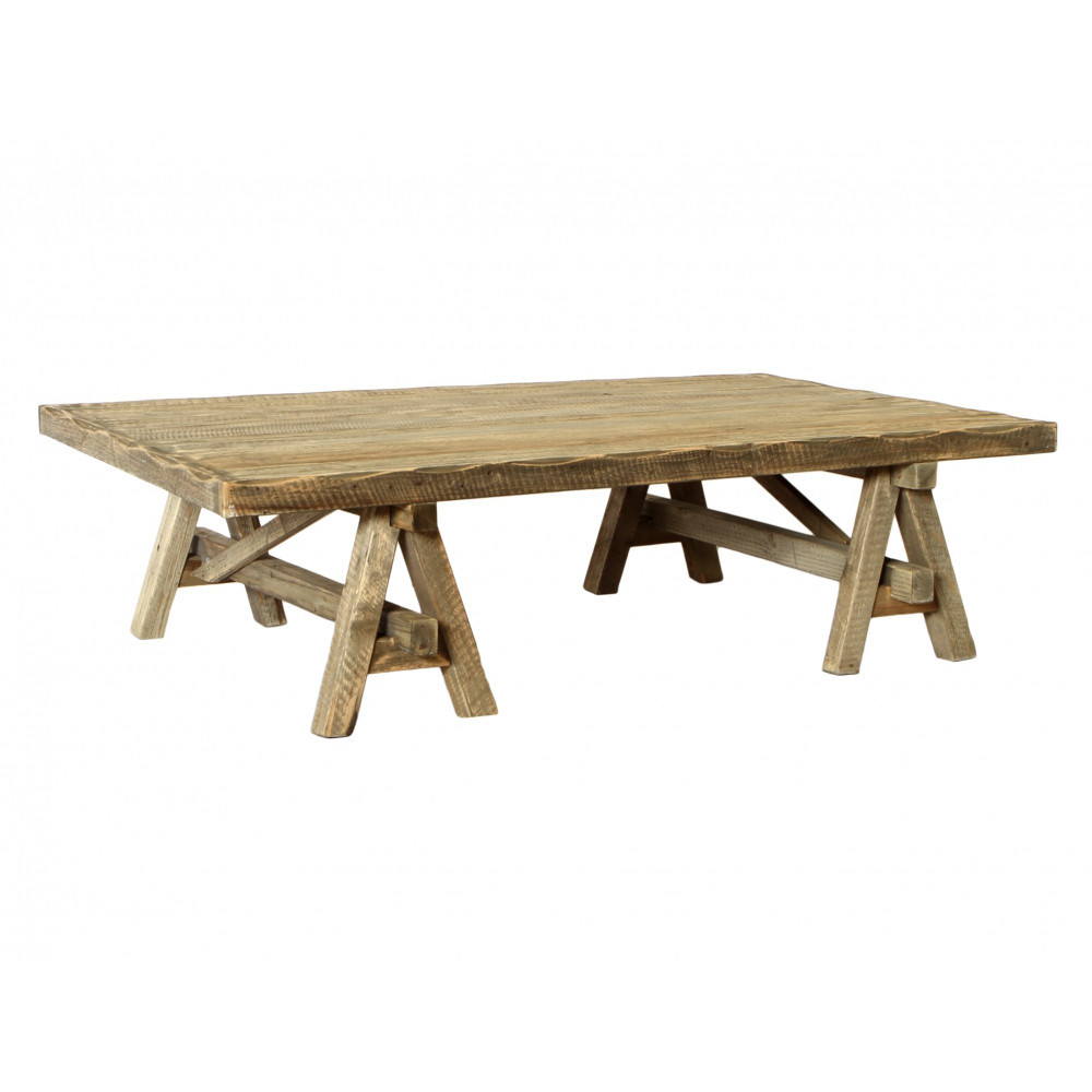Calais trestle coffee table maison living for Trestle coffee table