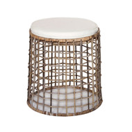 Cabana Rattan Ottoman With Cushion