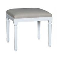 Bordeaux Upholstered Stool - White