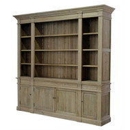 Reims Library Bookcase - Natural Oak - Side View