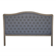 Antoinette Tufted King Headboard - Charcoal Linen