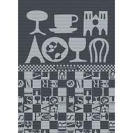 Tea Towel BISTROT NOIR