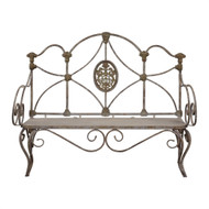 Caslon Iron Bench by Uttermost