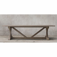 Riverwalk X-Base Dining Table 240cm - Smokey Grey