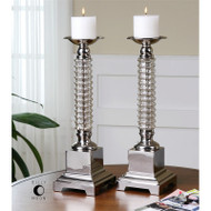 Ardex Candleholders - Set of 2 by Uttermost
