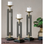 Everly Candleholders - Set of 3 by Uttermost