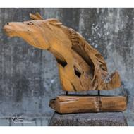 Teak Horse by Uttermost