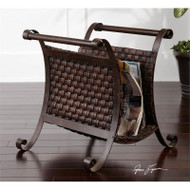 Brunella Magazine Holder by Uttermost