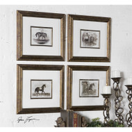 Horses Set of 4 a Prints Framed by Uttermost