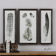 Feather Study Set of 3 a Prints Framed by Uttermost