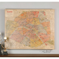 Paris Nouveau Plan a Prints Framed by Uttermost