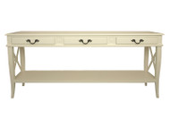 French Cross Console (Antique White)