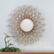 Golden Peacock Mirror by Uttermost