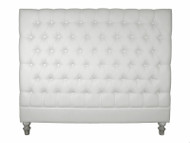 Marquis Upholstered Queen Headboard (Soft White)