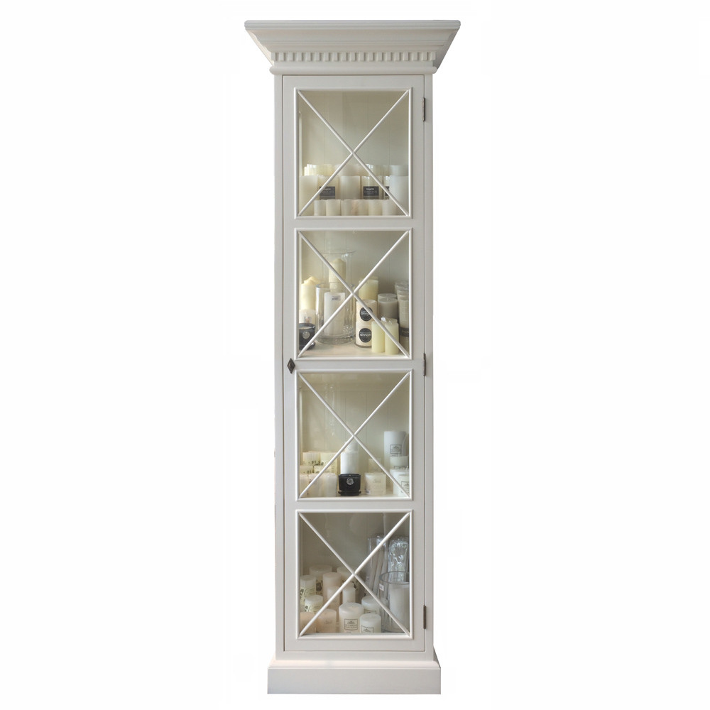 French Cross Display Cabinet Narrow